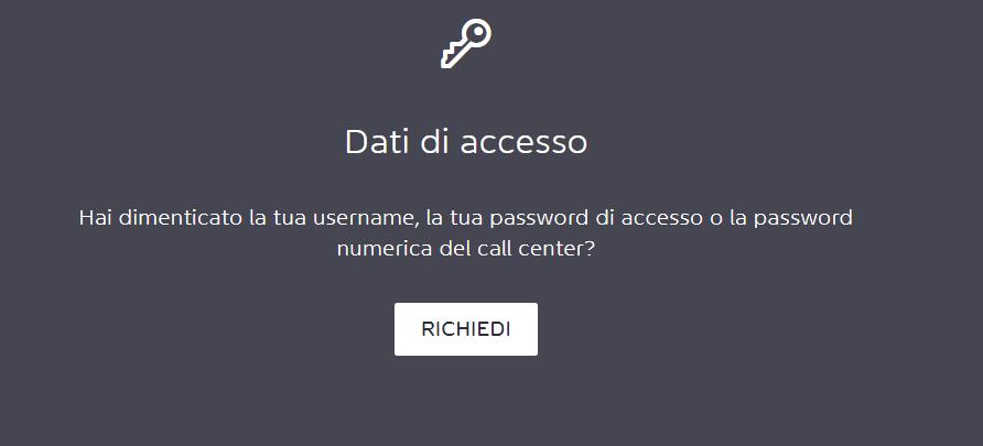 recupero password Widiba